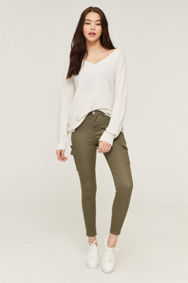 Ardene High Waist Cargo Jeggings