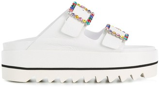 Le Silla embellished buckle mules