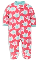 Little Me Girls' Elephant Microfleece Sleeper - Baby