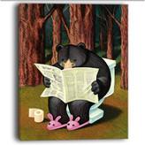 "Design Art Usa ""Bear in the Woods"" Animal Digital Art Canvas Print, 12""x20"""
