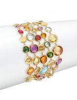 Marco Bicego Jaipur Semi-Precious Multi-Stone & 18K Yellow Gold Five-Strand Bracelet