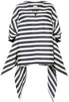 DELPOZO oversized striped coat