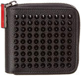 Christian Louboutin Panettone Square Leather Zip Around Wallet