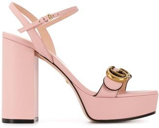 Gucci Double G 120mm platform sandals