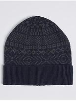M&S Collection Fairisle Beanie Hat