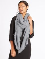 Marks and Spencer Chenille Striped Scarf