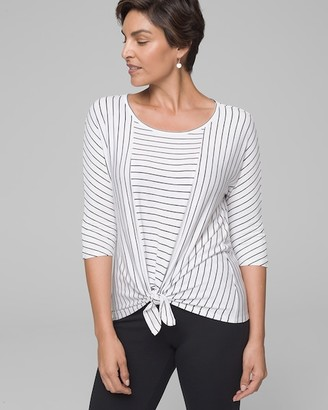 Soma Intimates Knotted Front Long Sleeve Tie Top