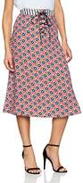 House of Holland Women's Lace up Star Print A-Line Skirt