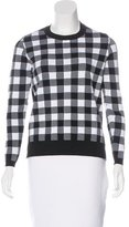 Sandro Check Printed Long Sleeve Top