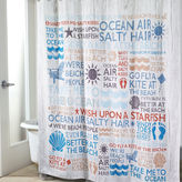 Avanti Beach Words Shower Curtain