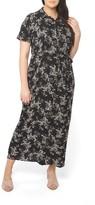 Evans Plus Size Women's Floral Maxi Shirtdress