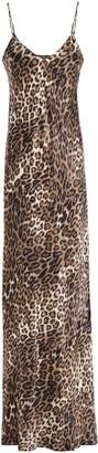 Nili Lotan Cami Gown Leopard-print Silk-satin Maxi Slip Dress