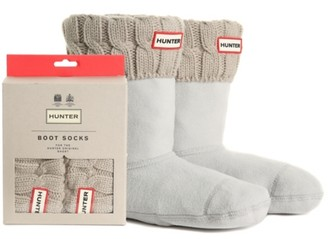 Hunter Short Cable Knit Women's Boot Socks