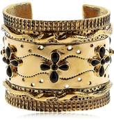 Aurelie Bidermann Cheyenne Cuff Bracelet With Black Agate