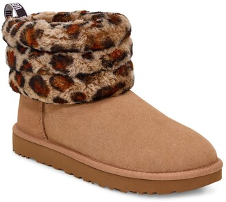 UGG Mini Fluff Quilted Leopard Print Boot