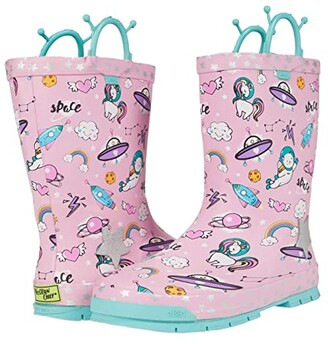 Western Chief Space Party Rain Boots (Toddler/Little Kid/Big Kid) (Pink) Girls Shoes