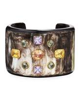 Ashley Pittman Mwali Dark Horn Cuff Bracelet