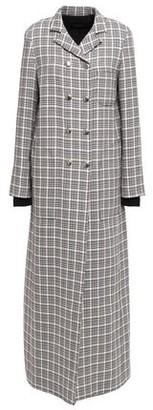 Giambattista Valli Checked Wool And Cotton-blend Coat