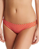 Tory Burch Myra Dot-Print Strappy Swim Bottom, Poppy Red Mali
