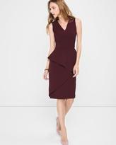 White House Black Market Asymmetric-Peplum Sheath Dress