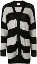 Laneus slouchy striped cardigan