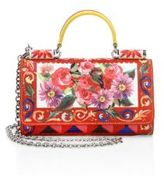 Dolce & Gabbana Printed Leather Phone Chain Wallet