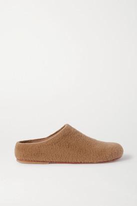 LAUREN MANOOGIAN Mono Alpaca-blend Slippers - Tan