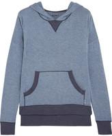 DKNY Stretch-modal Hooded Top - Mid denim
