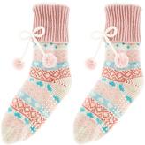 Monsoon Fairisle Slipper Sock