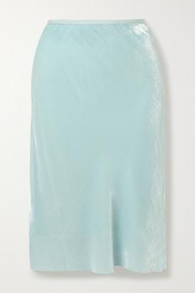 Helmut Lang Velvet Skirt - Light blue