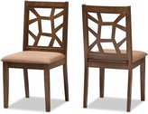 Baxton Studio Mid-Century Brown Dining Chair 2-piece Set