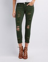 Low Rise Destroyed Jeans - ShopStyle