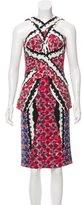 Peter Pilotto Printed Silk-Blend Dress