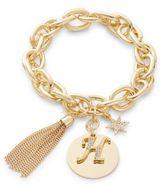 RJ Graziano H Initial Chain-Link Charm Bracelet
