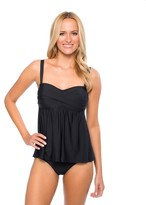 Athena Cabana Solids Faux Tankini One Piece