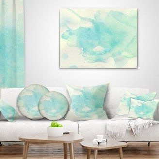 """East Urban Home Abstract Mountain Bike Oil Painting Pillow Size: 18"""" x 18"""", Product Type: Throw Pillow"""