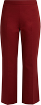 The Row Seloc cropped double-stretch sateen trousers