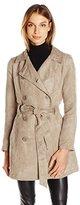 Jack by BB Dakota Women's Edsel Faux Suede Trench Coat