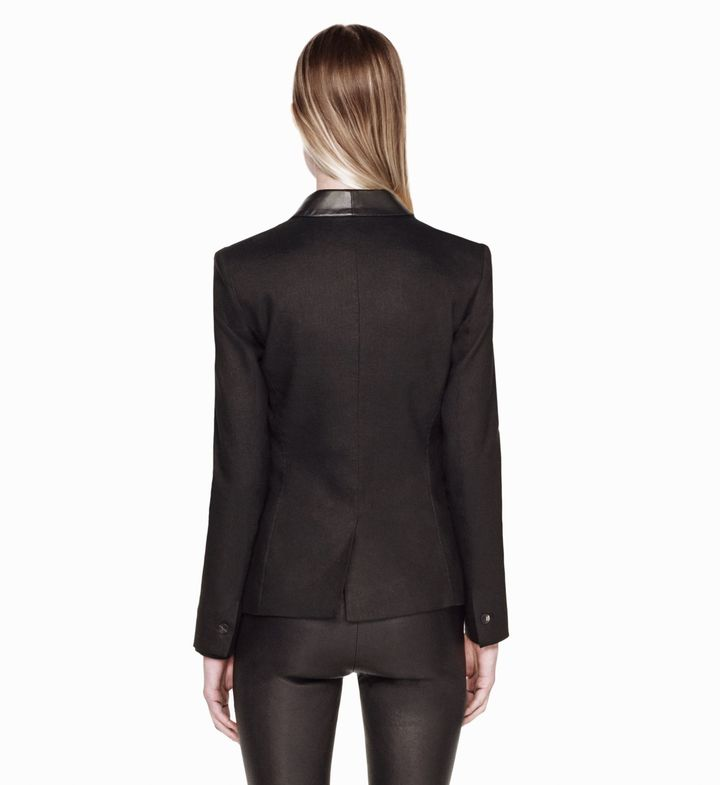 Helmut Lang Glossy Linen Twill Jacket