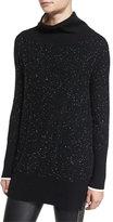 Rag & Bone Tamara Melange Cashmere Tunic, Black