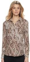 Dana Buchman Women's Cobblestone Button-Down Blouse