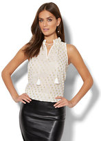 New York & Co. 7th Avenue - Clip-Dot Sleeveless Blouse