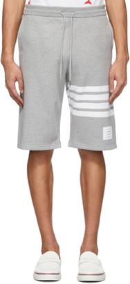 Thom Browne Grey Jersey 4-Bar Shorts