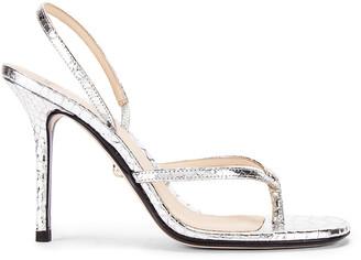 ALEVÌ Milano Ivy Sandal in Snake Silver | FWRD