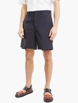 Marni Navy Velcro Feature Shorts