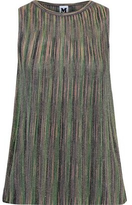 M Missoni Plisse Metallic Crochet-knit Top