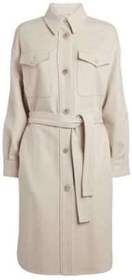 Brunello Cucinelli Wool-Silk Blend Overshirt Dress
