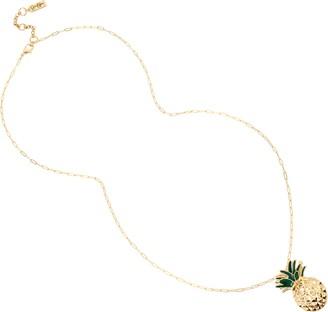 Jessica Simpson Pineapple Pendant Long Necklace