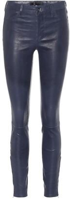 J Brand L8001 high-rise skinny leather pants