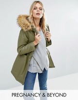 Modern Eternity 3 In 1 Waxed Parka With Faux Fur Trim Hood